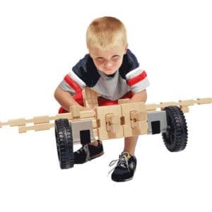 Wooden Wheeled Vehicle Play Set