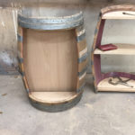 Wine Barrel Shelves